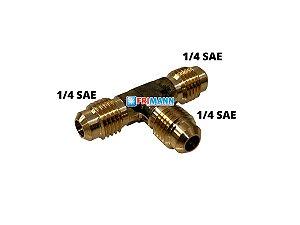T Vacuometro Refrigeração 1/4 x 1/4 x 1/4 SAE