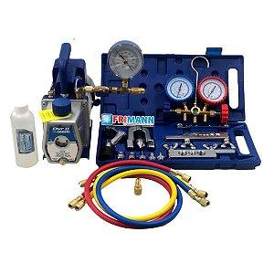 Kit Ferramentas Refrigeração e Ar condicionado Bomba Duplo estagio