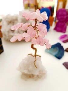 Árvore da felicidade Quartzo rosa