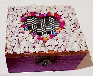 Caixinha decorada quartzo branco