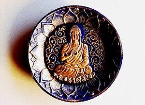 Incensário Buda - azul