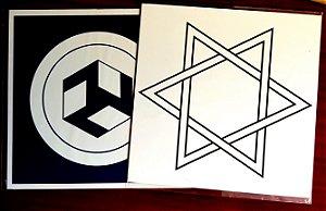 Gráficos Reiki: Hexagrama e Antakarana- PVC