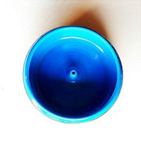 Incensário de Cerâmica Cumbuca Azul