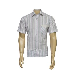 Camisa Sport Masculina Rosa Listrada