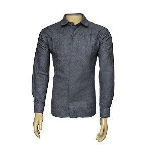 Camisa Flanela Masculina Cinza