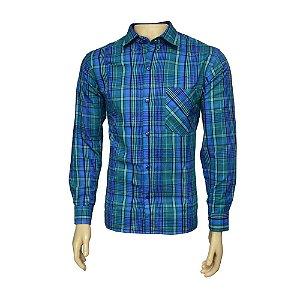 Camisa Flanela Masculina Xadrez Verde
