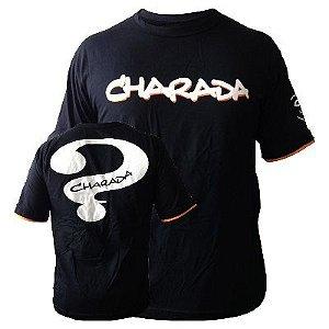 Camiseta CHARADA Preta Interrogação nas Costas