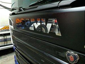 Logo Scania em INOX para modelos G/R (Unidade)