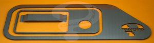 Aplique/Acabamento CHARADA de Inox da Maçaneta Volvo FH 2014 Completo