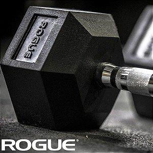 Dumbbell Rogue de Borracha Hexagonal 20lb (9,07kg) - Par