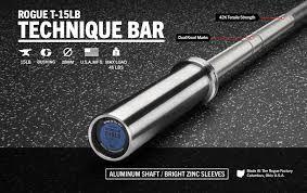 Barra  Treinamento Alumínio Rogue -15lb (6,8kg)