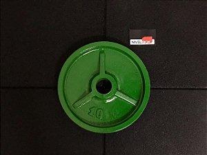 Anilhas de Ferro Olímpicas Colorida - 10kg - Verde  - par