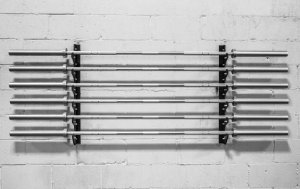 Suporte de parede para Barras Rogue V2 Gun Rack (Seminovo)