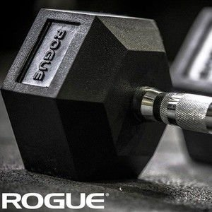 Dumbbell Rogue de Borracha Hexagonal 35lb (15,90kg) – Par