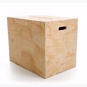 Caixa de Salto - Madeira 3 em 1 - 51cm x 61cm x 76cm