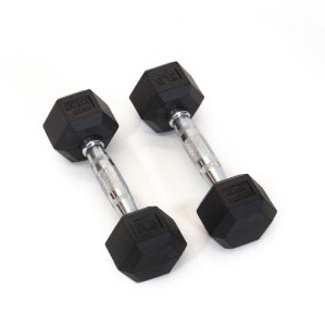 Dumbbell de Borracha Hexagonal 05Lb (2,27kg) - Par