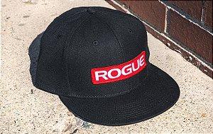 Rogue Snapback Patch Hat (Boné Rogue) - Cor: Preto com Vermelho