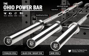 Barra Olímpica Masculina ROGUE POWER BAR 29mm - Bare Steel - 45LB