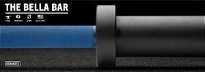 Barra Olímpica Feminina ROGUE BELLA 25mm CERAKOTE - Eixo Azul - Manga Preto