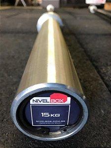 Barra NIVELBOX Feminina 25mm - 15kg - Zincada Preto