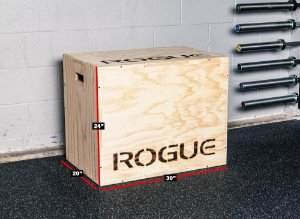 Caixa de Pular ROGUE - 3 em 1 Madeira - PLYO BOX (seminovo)