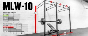 "Rogue Rack Monster Lite Parede 3""x 3"" 10' (3,05 metros) - seminovo"