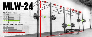 "Rogue Rack Monster Lite Parede 3""x 3"" 24' (7,32 metros) - Usado"