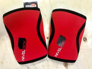 Joelheira NIVELBOX - Knee pad 7mm - Vermelho