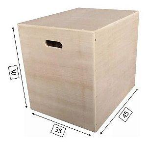 Caixa de Salto - 3 em 1 Madeira - Pequena - 45C x 35L x 30 A
