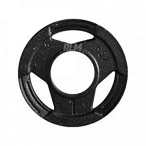 Anilha Olímpica Ferro 51mm Sport- 1kg - par