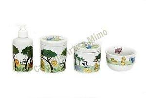 LIQUIDAÇÃO Kit Higiene Bebê Porcelana| Novo Safari | 4 peças