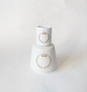 Moringa Pequena ( 300 ml) em Porcelana Coroa - Dourada | Rosa| Azul Bebê