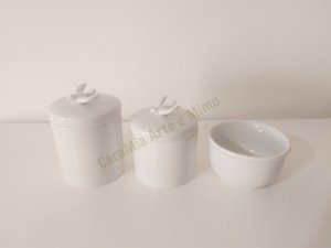 Kit Higiene Bebê Porcelana | Pássaro em Porcelana | 3 peças