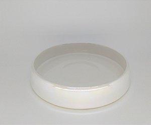 Bandeja Cerâmica Off-white Perolizada