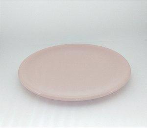 Bandeja Cerâmica Rosa Velho para Kit e para Garrafa 30 cm