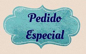Pedido Personalizado de Kit sextavado + Bandeja com Poá Preto Ceràmica