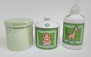 Kit Higiene Porcelana| Safari | 3 Peças