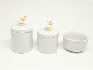 Kit Higiene Bebê Porcelana | Ovelha | Carneirinho| 3 peças