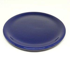 Bandeja em Cerâmica Azul Marinho Para Kit e para Garrafa ou Moringa