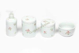 Kit Higiene Bebê Porcelana| Em um Campo de Rosas | 4 Peças