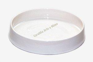 Bandeja em Cerâmica Off-White ( Branco envelhecido)