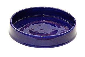 Bandeja em Cerâmica Azul Marinho 21cm