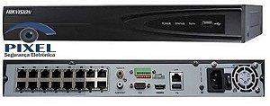 NVR - Network Video Recorder de 16 Canais PoE da Hikvision