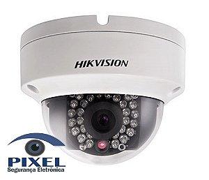 Câmera IP Dome da Hikvision com resolução de 2 Megapixels com PoE - Lente fixa de 2.8mm