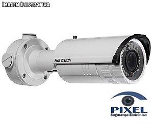 Câmera IP Bullet da Hikvision com resolução de 2 Megapixels com PoE - Lente varifocal de 2.8mm a 12mm
