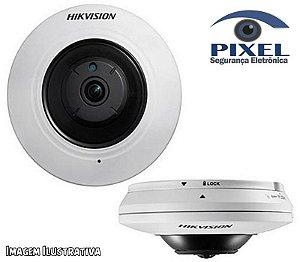 Câmera Fisheye IP da Hikvision com resolução de 4 Megapixels com PoE - Lente fisheye de 1.6mm