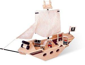 Toy Arte - Navio Pirata de madeira