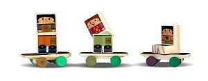 Toy Arte - Skate de madeira