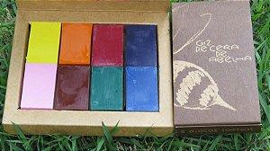 Blocos de giz de cera de abelha (8 cores básicas)