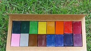 Blocos de giz de cera de abelha (16 cores sortidas)